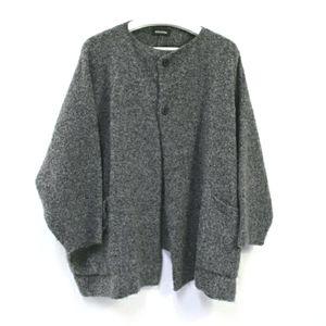 Eskandar oversized OSFM wool cashmere cardigan